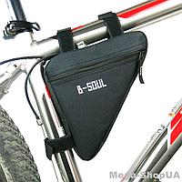 Сумка треугольная для велосипеда Bag Triangular ER45 велосумка велобардачок под раму на велосипед Черная