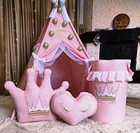 Вігвам Принцеса  БОН БОН + кошик для іграшок  Повний комплект !