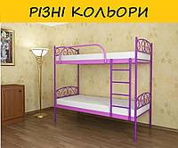 Двухъярусная металлическая кровать ВЕРОНА ДУО. Разные цвета