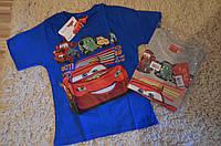 Футболка  для мальчиков оптом Disney Cars  98-128 см