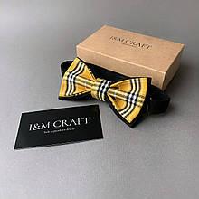 Галстук-бабочка I&M Craft желтый в клетку (010453)