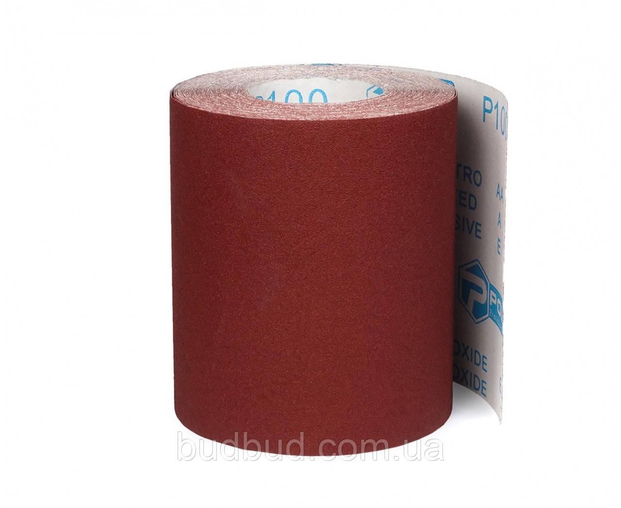 Шліфувальна шкурка на тканинній основі 200мм*25м зерно К120 (54-026) POLAX