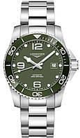 Мужские Часы LONGINES L3.782.4.06.6 Hydro Conquest 43 mm Green Dial Automatic