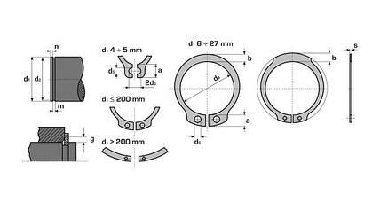 Кольцо стопорное наружное Днар040 (DIN 471-040)  АПП, фото 2