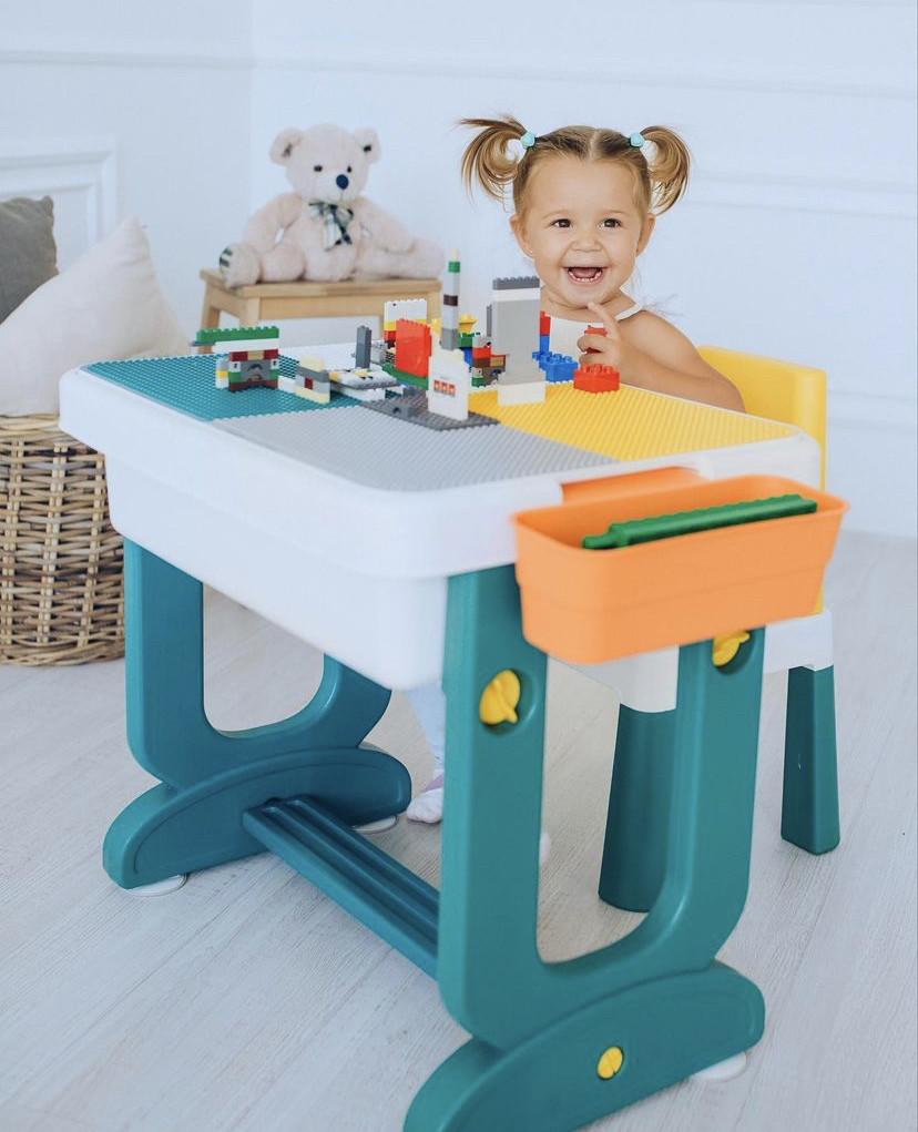 Poppet Детский многофункциональный столик Трансформер 6 в1 и стульчик
