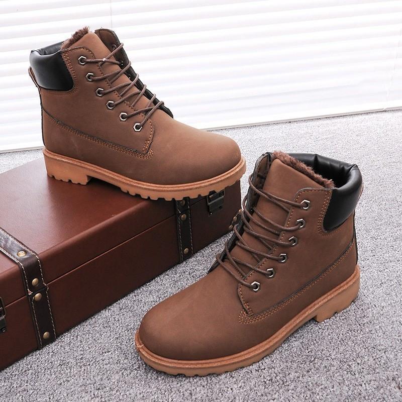 Мужские зимние кожаные ботинки модель 04108