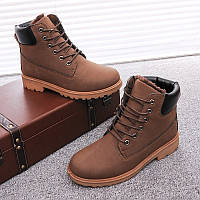 Мужские зимние кожаные ботинки модель 04108, фото 1