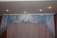 Меланж бело-голубой  3-3.5 м