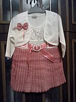 Платье детское нарядное,с болеро. Размер 3 года