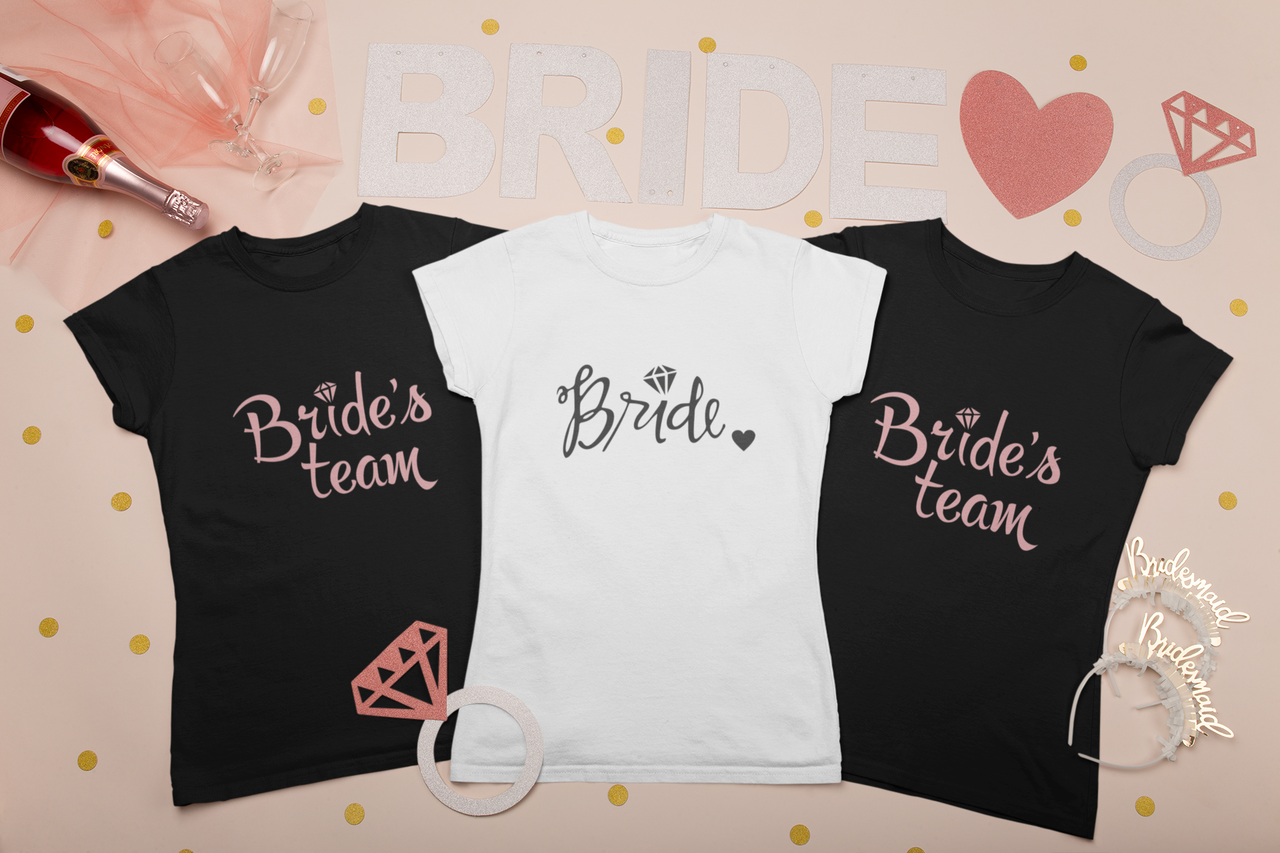 """Футболки с принтом на девичник для невесты """"Bride"""""""