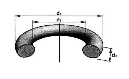 Кільце ущільне 112*118*36 (вн.110х3.6 (OD 118*3.5)), фото 2
