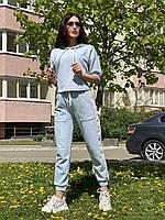 Женский спортивный  костюм из хлопка Poliit 7318