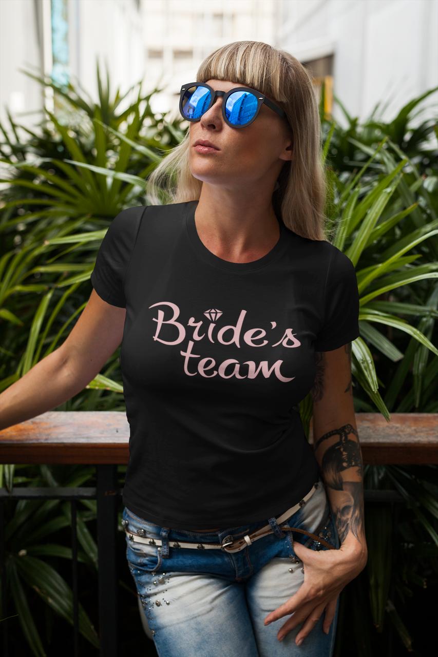 """Футболки з принтом на дівич-вечір для подруг нареченої """"Brides Team"""""""