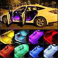 Подсветка в салон автомобиля, светомузыка в машину, цветомузыка автомобильная с пультом управления