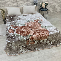 Плед на диван облегченный Пионы 150х200 см