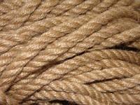 Веревка джутовая для декора деревянного дома диам. 30 мм  (в бобинах по 50 м.п.), фото 1