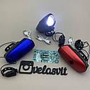 Передня велосипедна фара в алюмінієвому корпусі + сигнал велосипедний ліхтар USB, фото 5