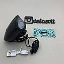 Передняя  велосипедная фара в алюминиевом корпусе + сигнал велофонарь USB, фото 6