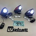 Передня велосипедна фара в алюмінієвому корпусі + сигнал велосипедний ліхтар USB, фото 4