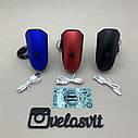 Передня велосипедна фара в алюмінієвому корпусі + сигнал велосипедний ліхтар USB, фото 9