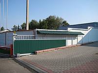 Ворота откатные, зашивка профнастил - вертикальное исполнение, фото 3