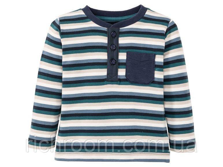 D1-00022, Лонгслив, реглан Lupilu Pure Collection, футболка с длинными рукавами, Для мальчиков, сини