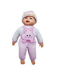 Детский Пупс хохотун (в розовом), 40 см X1608