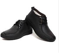 Мужские зимние ботинки-туфли из натуральной кожи. Модель 04109., фото 4