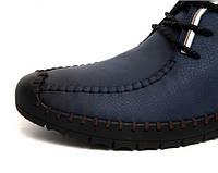 Мужские зимние ботинки-туфли из натуральной кожи. Модель 04109., фото 5