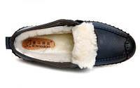 Мужские зимние ботинки-туфли из натуральной кожи. Модель 04109., фото 6