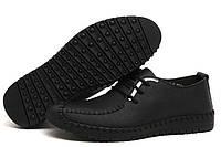 Мужские зимние ботинки-туфли из натуральной кожи. Модель 04109., фото 9