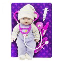 """Кукла-Детский Пупсик игрушечный с докторским набором """"Малыш"""" PU11"""