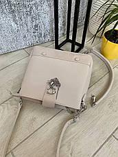 Трендовая сумка КМ на 3 отдела кофе с молоком КМ9, фото 3