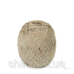 Трикотажний шнур з люрексом Knit & Shine, колір Світлий капучіно