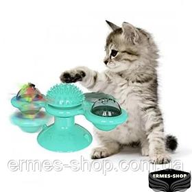 Игрушка для кота интерактивный спиннер Rotate Windmill