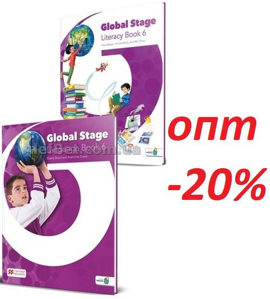 Английский язык / Global Stage / Literacy Book and Language Book. Учебник+книга (комплект), 6 / Macmillan