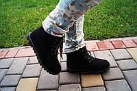 Ботинки женские зимние черные. Польша