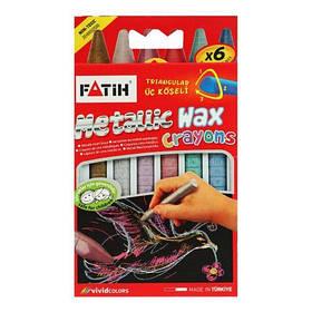 """Восковые карандаши """"Металлик"""", 6 шт 50180 [kar159008-TSI]"""