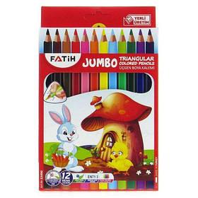 "Карандаши цветные ""Jumbo"", 12 шт 33490 [kar159004-TSI]"