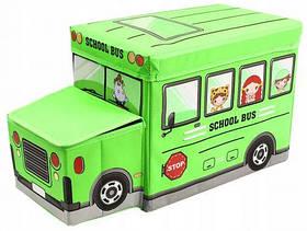 """Пуф-корзина для игрушек """"Школьный автобус"""" BT-TB-0011 [kor158986-TSI]"""