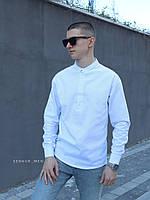 Чоловіча сорочка льон біла