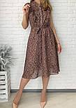 Жіноче плаття шифонова довжини Міді, фото 4