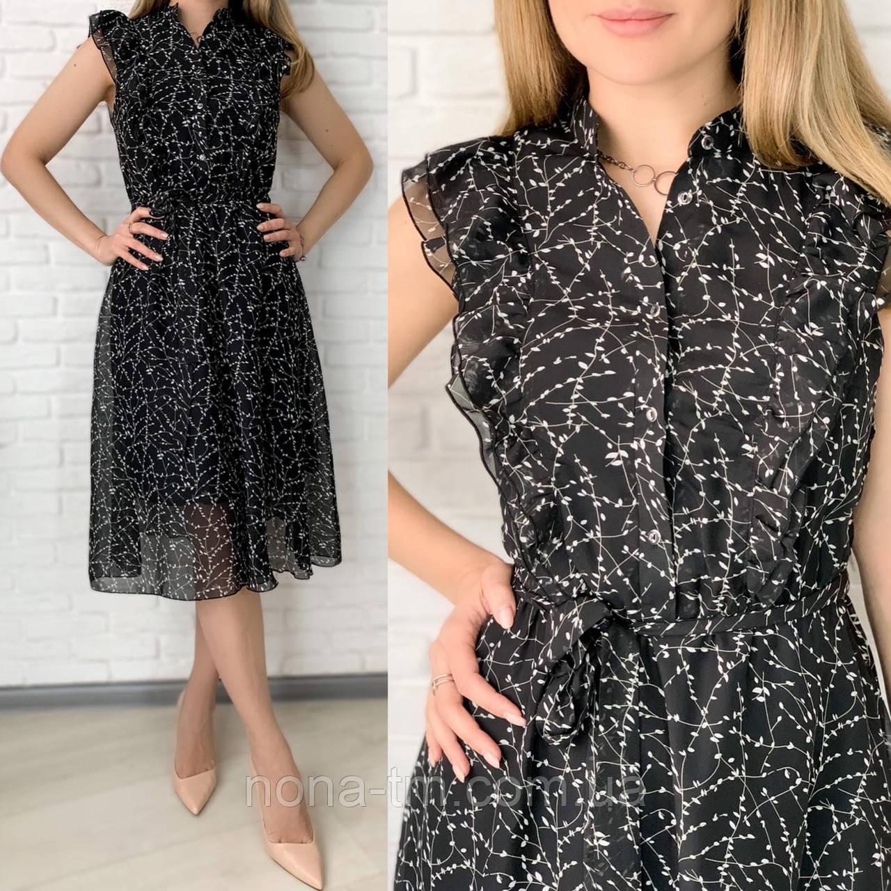 Жіноче плаття шифонова довжини Міді