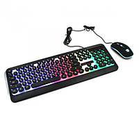 Клавиатура с подсветкой Led Gaming Keyboard и мышь HK3970