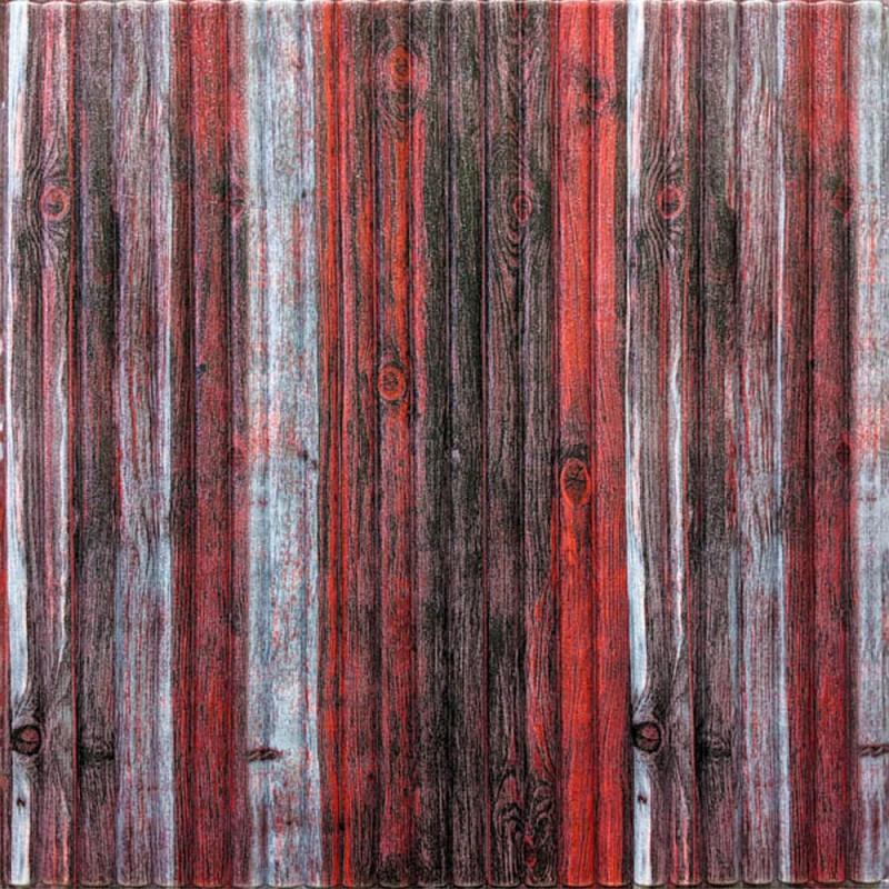 Декоративная 3D панель стеновая самоклеющаяся под БАМБУК КРАСНО-СЕРЫЙ 700х700х8.5мм (в упаковке 10 шт)