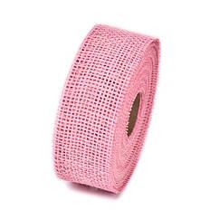 Мешковина цветная розовая 5 см