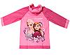 Розовый дождевик для девочки с надувным капюшоном Холодное сердце Disney frozen, фото 2