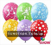 Воздушные шарики для девочек микс 12 (30 см) ТМ Show