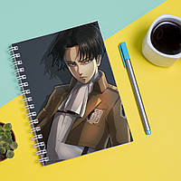 Скетчбук Sketchbook для рисования с принтом Леви аниме Атака Титанов Attack on Titan Levy