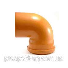 Колено 110х90° (наружное)пвх               Коліно ПВХ 110-90° (зовн.)